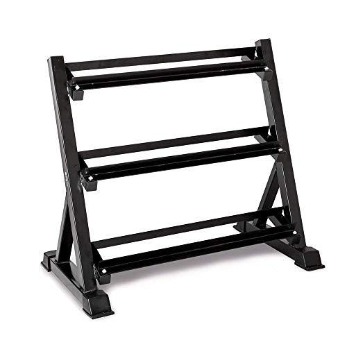 WXH Profession Robuster 3-Stufen-Hexadezimal-Hantelständer, robuster Ständer, schnelle Montage, festes Hantel-Ausstellungsregal, für Fitnessgeräte für zu Hause