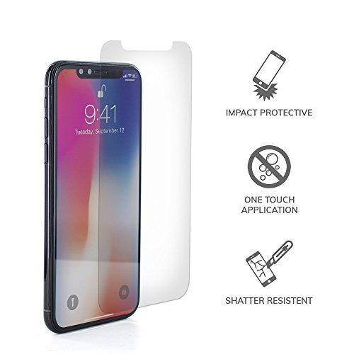 """Proporta® Glas Displayschutz Kompatibel mit Apple iPhone X/XS (5.8"""" Zoll) aus Temperiertem Sichereitsglas, Blasenfreie Glas-Folie, 9H Stärke, Glasklar Transparent"""