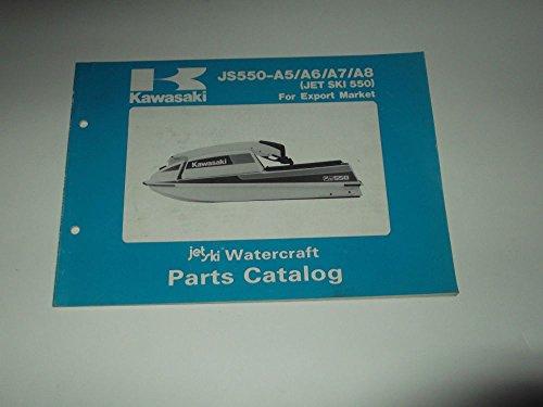 Partes CATALOG KAWASAKI JS 550-A5-A6-A7-A8 (JET SKI 550) 1986-1989 WATERCRAFT