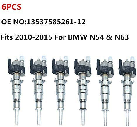 Set Of 6Pcs Truly OEM Fuel Injectors 13537585261-12 Fits 2010-2015 Replacement For BMW N54 & N63