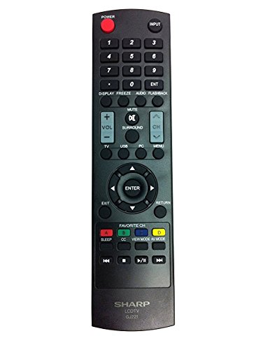 New USARMT Replaced Sharp GJ221 Remote for Sharp TVs LC-32SV29U,...