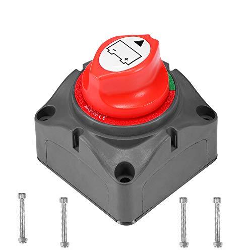 AOZBZ Batterietrennschalter Universal 12 V / 24 V Dual Batterietrennschalter Cutoff Power Kill Schalter Wasserdichte Abdeckung für Auto RV Marine Boot