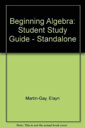 Download Student Study Guide - Standalone for Beginning Algebra 0131858068