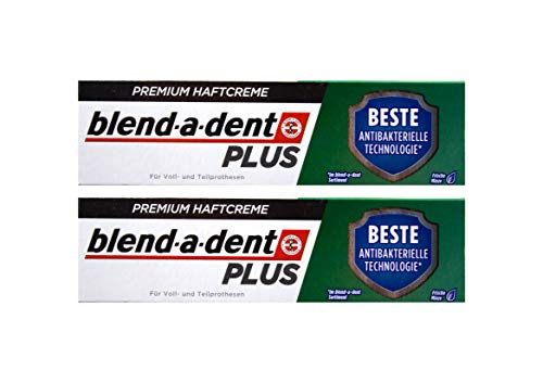 2x Blend a dent Plus Premium Haftcreme DUO SCHUTZ Minze 40g