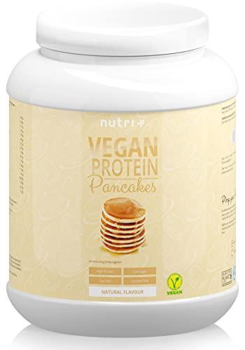 PROTEIN PANCAKE Neutral 1kg - Pancakes Vegan - zuckerarm und fettarm - Eiweiß Pfannkuchen Mix ohne Süßstoffe - Backmischung schnell zubereitet