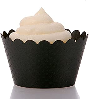 Dress My Cupcake Standard Black Cupcake Wrappers, Set of 100