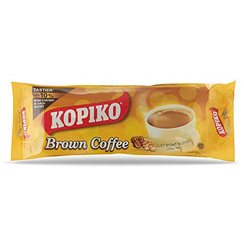 Kopiko Brown Long Pack 3 in 1 Instant Coffee Mix 30 Bags, 27.5g