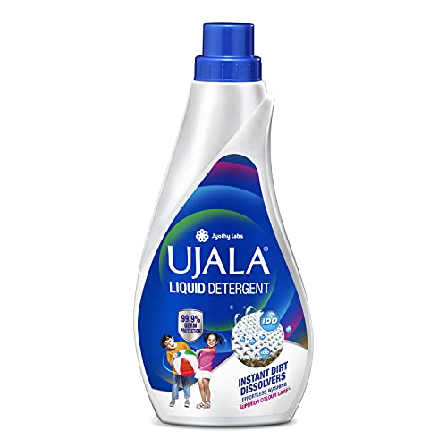 UJALA Liquid Detergent 800ml - New Ujala Liquid Detergent with IDD (Instant Dirt Dissolvers) for Effortless Washing & Superior Color Care.