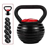 shanchar Adjustable Kettlebell Weight Sets,Kettlebell10 15 20 25 30 35 40 Lb Great Assistant for Home Office Fitness.