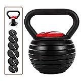 shanchar Adjustable Kettlebell Weight Sets,Kettlebell10 15 20 25 30 35 40 Lb...