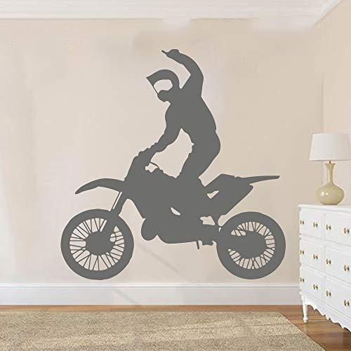 hetingyue wandsticker, motor, groot, voor jongens, slaapkamer, motorfiets, sport, garage