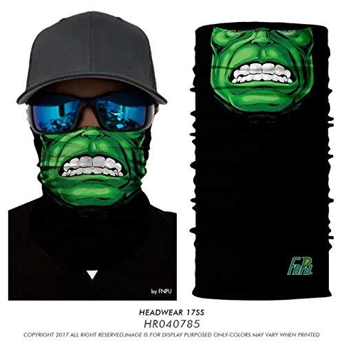 PAWANG 3D sin Costuras Bandana V Vendetta Bufanda mágica Cuello Buffe cráneo Muerte Hulk Motocicleta Senderismo Pesca mascarilla al Aire Libre esquí Diadema
