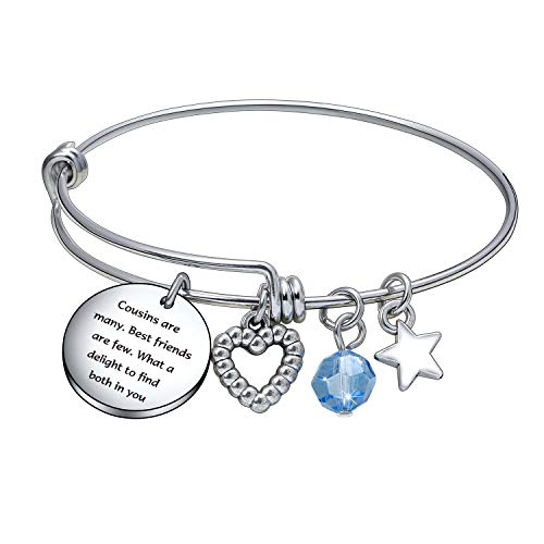 cousins jewelries Cousin Bracelet, Christmas Day Gift, Birthday Jewelry, Best Friend Appreciation Gift