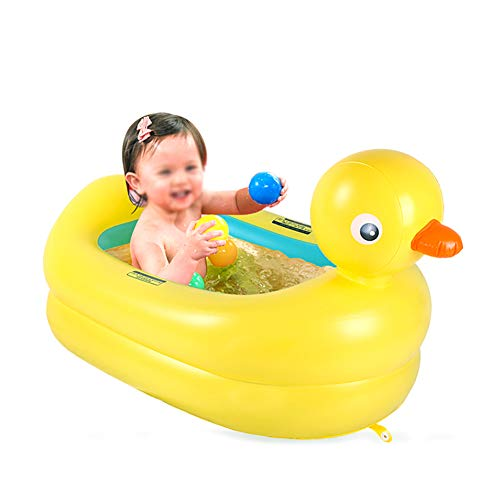 YXZT Bañera para bebé Bañera para bebé Inflable Pato Plegable Piscina para...
