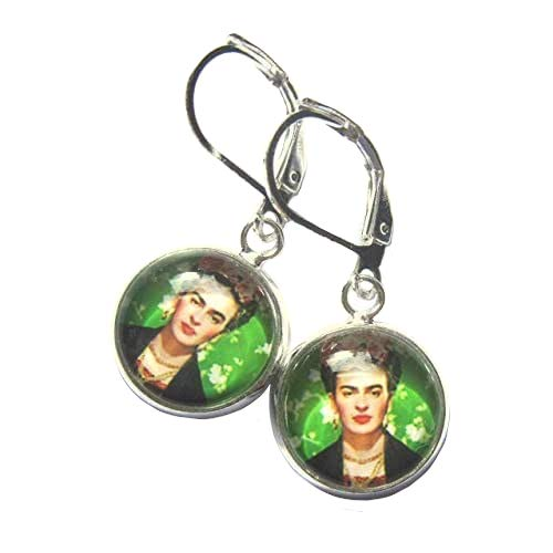 Artist Circle Earrings Glass And Silver Plated Nickel And Lead Free