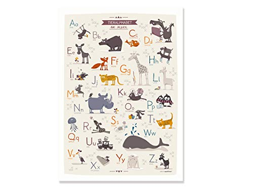 Cats on Appletrees 7601 Tieralphabet ABC Poster