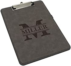 Custom Engraved Clipboard, Paper Holder - Personalized Office Gift for Coaches, Teachers, Medical Student, Doctors, Nurses (Gray with Black)