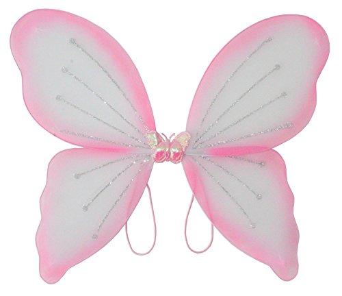 Elfenflügel, in 3 erhältlich, Karneval, Märchen, Elfe, zauberhaft, märchenhaft, verzaubernd, schön, Gummi zum Anziehen, traumhaft (Rosa)