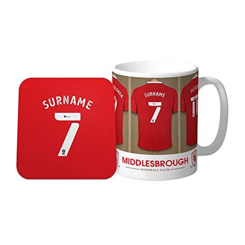 Official Personalised Middlesbrough FC Dressing Room Mug & Coaster Set