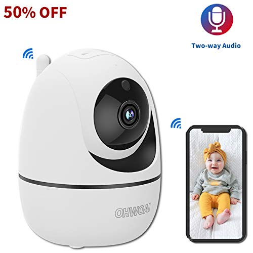 Baby Monitor with Camera and Audio,Indoor Wireless Security Camera 1080P,Home Video WiFi Pet Cam,Home Rotating Survalliance Camera,Room Nanny Camera with Night Vision,Motion Detection. Monitors