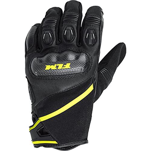FLM Motorradhandschuhe kurz Motorrad Handschuh Sports Lederhandschuh 1.0 schwarz 7,5, Herren, Sportler, Ganzjährig