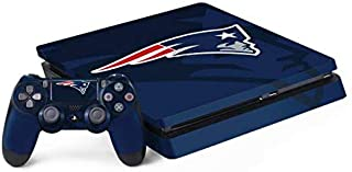 Skinit Decal Gaming Skin for PS4 Slim Bundle - Officially Licensed NFL New England Patriots Double Vision Design