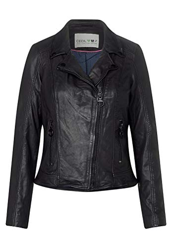 Cecil Damen 211043 Jacke, Schwarz (Black 10001), Small (Herstellergröße:S)