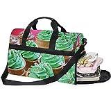 FAJRO - Bolsa de Viaje para Gimnasio, diseño de Cupcakes con Bolsa para Zapatos