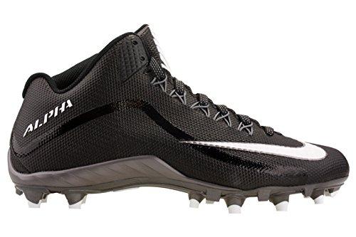 Nike Mens Alpha Pro 2 3/4TD Football Cleats 719927 010 ( Black/Metallic Dark Grey/White , 11.5 D (M) US )