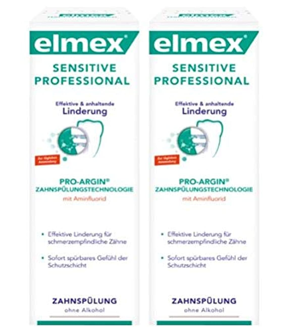 埋める乳剤招待2本セット elmex エルメックス センシティブ プロフェッショナル 知覚過敏用 マウスウォッシュ 400ml 【並行輸入品】