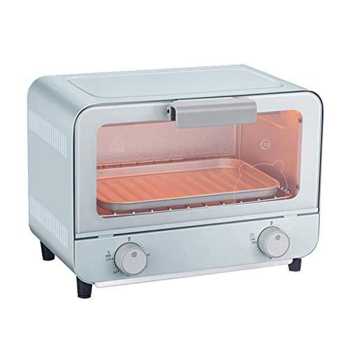 9L Mini Piekarnik Regulowany Temperatura 60-230 □ i 30 minut Timer Wielofunkcyjny Piekarnik Do Piekarni Piekarnik Pieczenie Ciasto Chleb Maszyna Hartowana Szkło 800 W (Color : Blue)