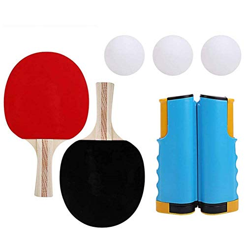 Fantastic Deal! VictorySport Anywhere Ping Pong Equipment to-Go Retractable Table Tennis Set 3 Balls...
