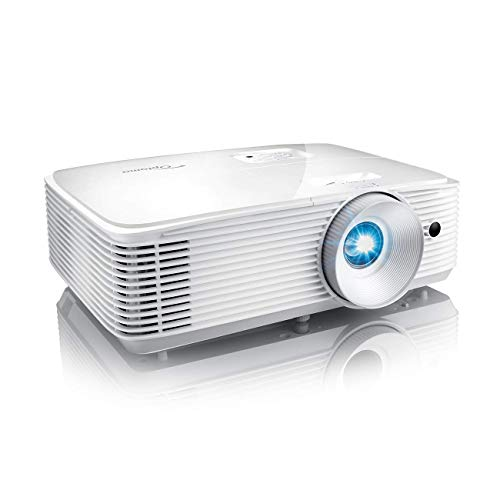 Optoma SH360 Affordable Home Projector | Indoor or Outdoor Movies, Up to 300' | 480p Ready | Bright 3600 Lumens | Compatible with Fire Stick, Roku & More | Integrated Speaker | Up to 15,000hr Lamp