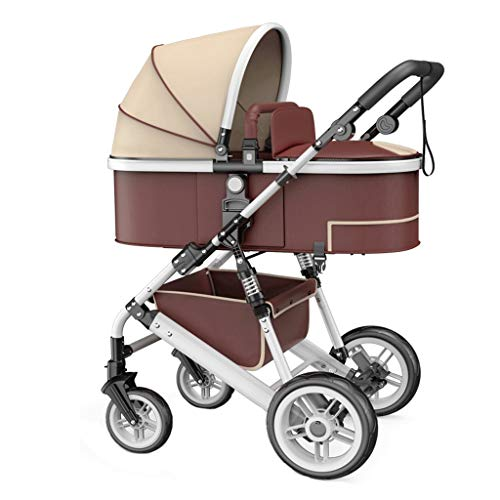 Buy Bargain Liutao High Landscape Stroller Can Sit Two-Way Four-Wheel Shock Absorber Trolley Reclini...