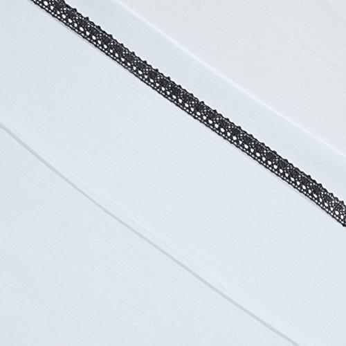 Jollein 008-524-64972 laken en kussensloop, 120 x 150 cm, Crochet, antraciet