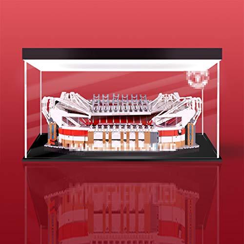 ColiCor Estuche de exhibición de acrílico con luz para LEGO Creator Manchester United - Old Trafford Stadium 10272, caja de protección a prueba de polvo compatible con Lego 10272