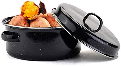 Nieuwe Koreaanse Stijl Multifunctionele Huishoudelijke Niet-roken Grill Pot Gebakken Zoete Aardappel Barbecue Saus Non-stick BBQ Gegrilde Aardappel Pot Keuken Pot (Upgrade)