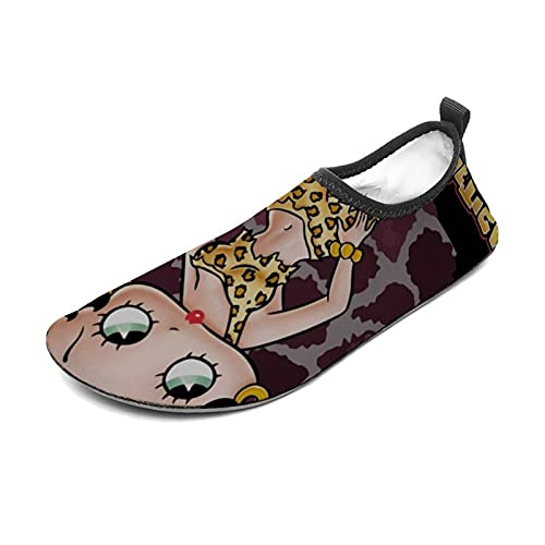 MaiXiye Be-tty Bo-op Water Sports Shoes Barefoot Quick-Dry Aqua Yoga Socks Slip-on for Men Women