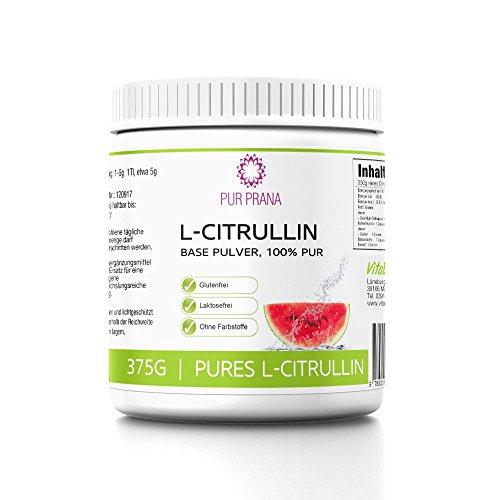L Citrullin 100% Pure kein Malat, Vitalstoff, Aminosäure, steigert die Arginin Wirkung, fördert den Muskelaufbau und die Durchblutung, Base Pulver als Vegan Nahrungsergänzung, Pur Prana (375g)