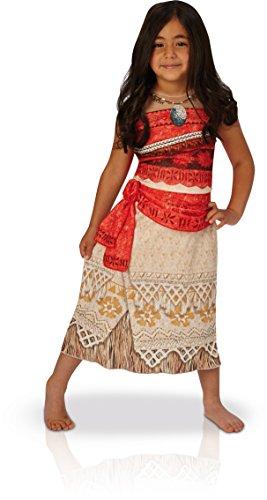 Disney Moana - Disfraz de Vaiana para nia, infantil 5-6 aos (Rubie's 630511-M)