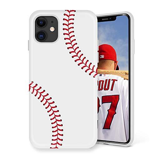 Litech Case for Apple iPhone 11 (2019) [Flexfit] Premium Cute Creative Artistic Design (Baseball)