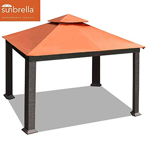 EliteShade 10x13 feet Sunbrella Titan Patio Outdoor Garden Backyard Gazebo with Ventilation and 5 Years Non-Fading,Rust