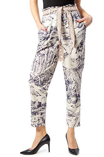 Desigual Damen Chinohose Pant_Tropical Offwhite M (38)
