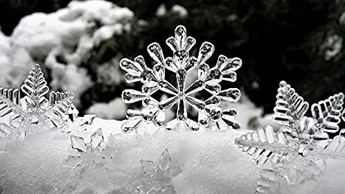 Rompecabezas para Adultos 1000 Rompecabezas - Copo de Nieve de Cristal de...