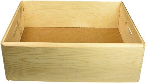 Kesper Kiste, Kiefer, Braun, 40 x 30 x 14 cm
