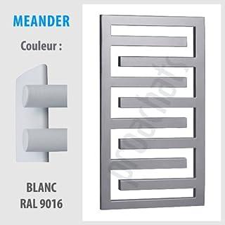 Meander ME-35 - Radiador toallero para cuarto de baño (350 x 550mm), color blanco