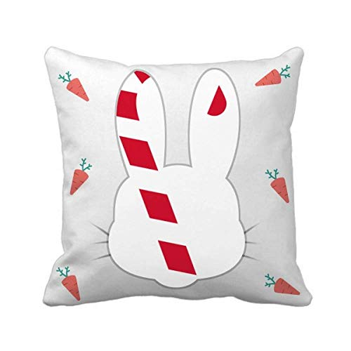 cold master DIY lab Christmas Crutch Red Festival Rabbit Throw Pillow Square Cover