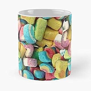 Argentwork Lucky Charms Rainbow Marshmallows Irish Leprechaun Taza de café con Leche 11 oz