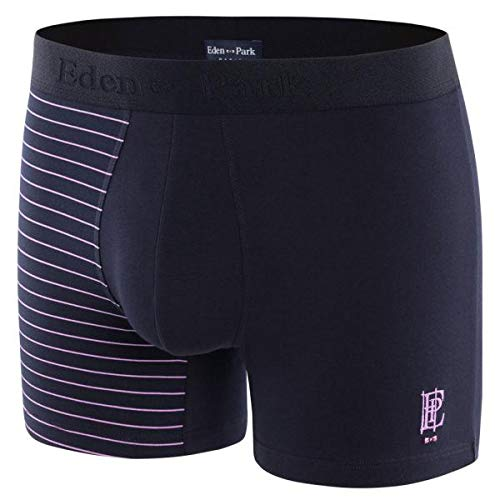 Eden Park heren boxershorts, katoen, HALFRAY marineblauw roze