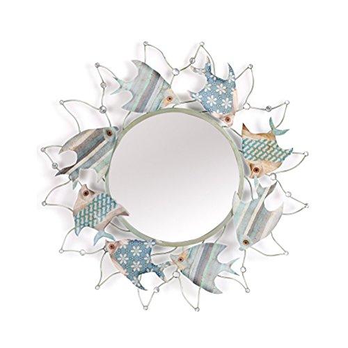 Ping Bu Qing Yun Hierro forjado montado en la pared ambiental estéreo antiguo oxidado pintura electrostática conveniente para todas las ocasiones multifuncional creativo colgante espejo espejo decorat